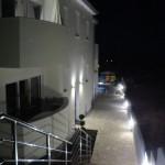 Eingang am Abend