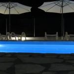 Pool beleuchtet